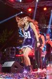 歌手德斯皮娜执行在疯狂的北部阶段节日的Vandi 免版税库存图片