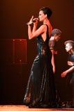 歌手斯拉娃在阶段执行在维克托Drobysh第50个年生日音乐会期间在巴克来中心 图库摄影