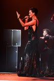 歌手斯拉娃在阶段执行在维克托Drobysh第50个年生日音乐会期间在巴克来中心 免版税库存照片