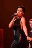 歌手斯拉娃在阶段执行在维克托Drobysh第50个年生日音乐会期间在巴克来中心 库存照片