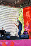 歌手阶段的菲利普Darees 库存图片