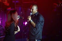 歌手Arash在Arma音乐厅阶段执行  免版税库存图片
