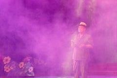 歌手chencunjin唱人爱 免版税库存图片