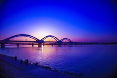 歌曲华江桥梁的秀丽 图库摄影