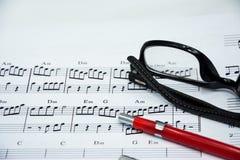 歌曲想法的音乐笔记  免版税库存图片