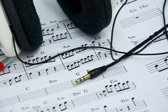 歌曲想法的音乐笔记  图库摄影