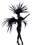 歌舞女郎妇女讽刺时事的滑稽剧舞蹈演员跳舞 图库摄影