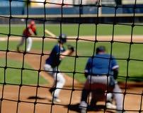 止回器棒球净额 免版税库存图片