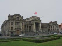 正义宫殿在利马,秘鲁 库存照片