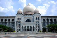 正义宫殿在布城,马来西亚 库存图片