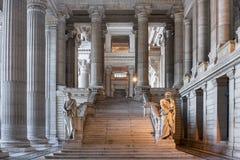 正义宫殿在布鲁塞尔,比利时 库存图片