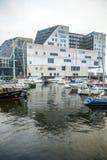 正义宫殿在阿姆斯特丹是西部IJ船坞一个新的地标  阿姆斯特丹-荷兰 免版税库存图片
