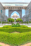 正义宫殿或Istana Kehakiman在布城,马来西亚 它是一个庄严看的大厦 库存图片