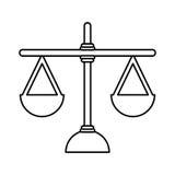 正义平衡被隔绝的象 皇族释放例证