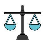 正义平衡被隔绝的象 库存例证