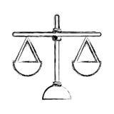 正义平衡被隔绝的象 向量例证