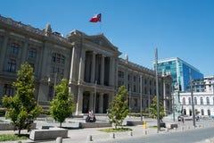 正义法院在圣地亚哥智利 免版税库存图片
