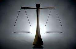 正义现代标度  免版税库存图片