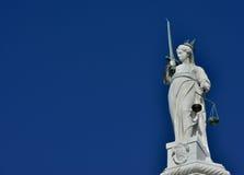 正义的女神在威尼斯 库存图片