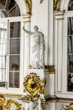 正义的女神的雕象在约旦楼梯的 库存图片