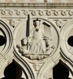 正义的女神从共和国总督的宫殿的在威尼斯 库存图片
