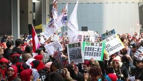 正义的集会Erwiana的在香港