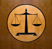 正义称符号 库存照片