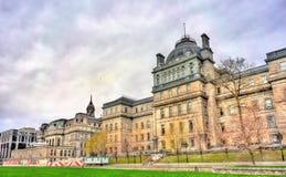 正义老宫殿在战神广场的在蒙特利尔,加拿大 免版税库存图片