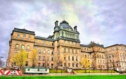 正义老宫殿在蒙特利尔,加拿大 免版税库存图片