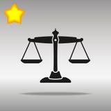 正义象按钮商标优质标志的概念黑标度  免版税库存图片