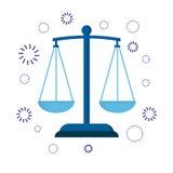 正义象标度  法官或律师的标志 免版税库存照片