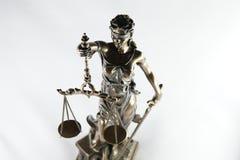 正义雕象 免版税库存照片