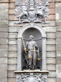 正义雕象 免版税图库摄影