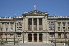 正义,圣地亚哥,智利宫殿  库存图片