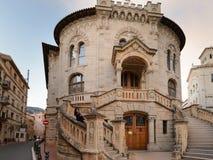 正义,摩纳哥的公国宫殿在摩纳哥的 免版税库存图片