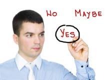 正决策 免版税库存照片