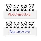 正和负情感 玩具熊猫 图库摄影