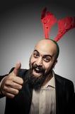 正圣诞节有胡子的人 图库摄影