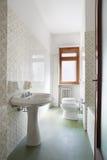 正常公寓的简单的卫生间 免版税库存照片