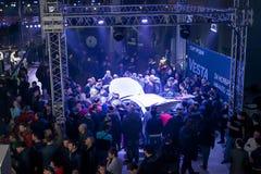 正式地开始卖新的模型Lada 库存照片