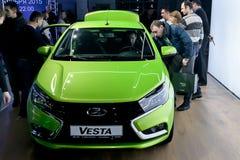 正式地开始卖新的模型Lada 免版税图库摄影