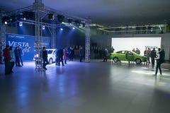正式地开始卖新的模型Lada 免版税库存图片