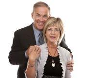 正式成熟夫妇 免版税库存图片
