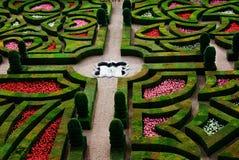 正式法国庭院Loire Valley 免版税图库摄影