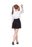 正式衣裳的少年女小学生 免版税图库摄影