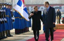 正式访问的希腊总理阿列克西斯・齐普拉斯向贝尔格莱德 免版税库存图片