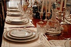 正式餐位餐具 免版税库存照片