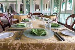 正式餐桌 免版税图库摄影