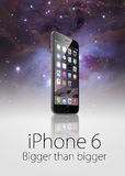 正新的iphone 6 免版税库存照片