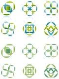 正方形和圈子 免版税库存照片